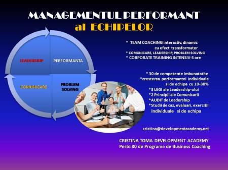MANAGEMENT PERFORMANT INTENSIV